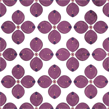 floral seamless geometric pattern. Vintage background. Fabric, Scrapbooking Stock Photo