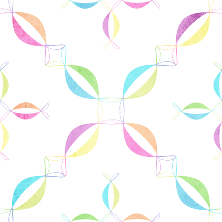 scraps: floral seamless geometric pattern. Vintage background. Fabric, Scrapbooking Stock Photo