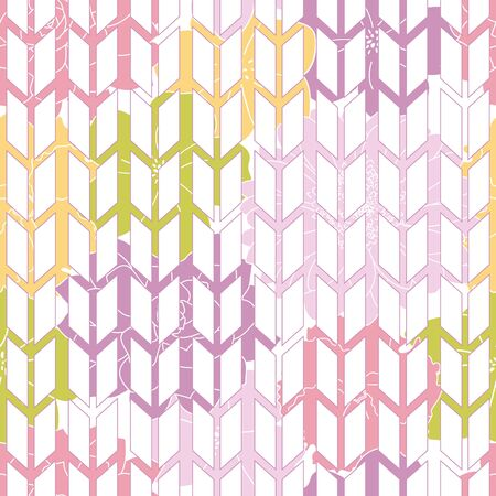 geometry seamless pattern with colorful floral background Illustration