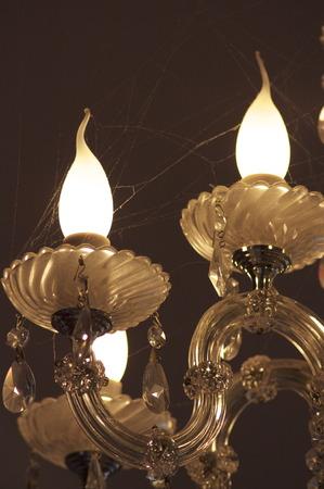 luster: chandelier cobwebs