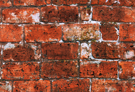 Background of red brick wall texture seamless.