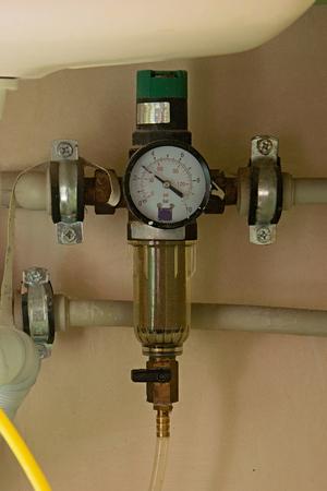 Backwash Water Filter Pressure Reducer Manometer.
