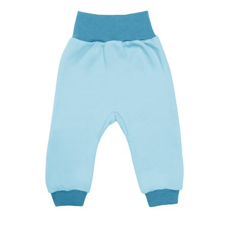 blue baby drawers pants. child trousers isolated on white background. Archivio Fotografico