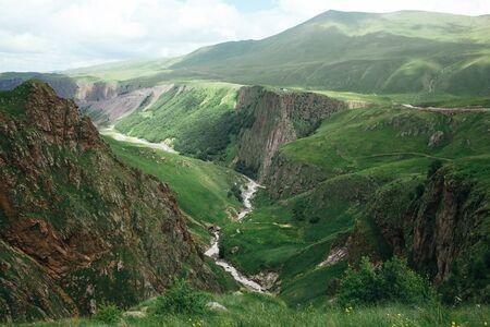 Caucasus mountains Gil-Su Kabardino-Balkaria, Elbrus national park, North Caucasus, Russia. Banco de Imagens