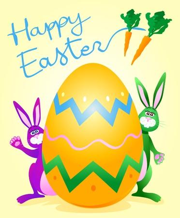 giant easter egg: Easter card, vector Illustration