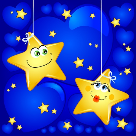 Stars in love with background, vector image Stock Vector - 9483819