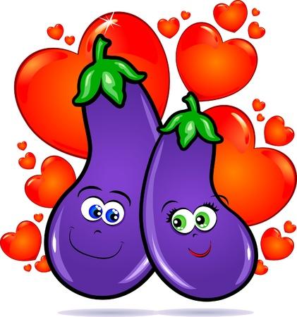 Vegetables in love Vector