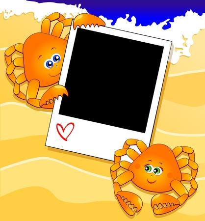 Customizable background on the beach Stock Vector - 9510650