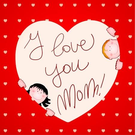 I love you mom Vector