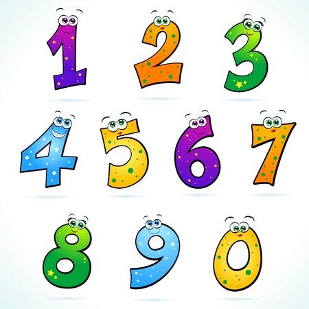 rekensommen: Reeks grappige nummers Stock Illustratie