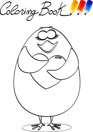 Coloring book for children, chick. Vector image Stock Vector - 9804847