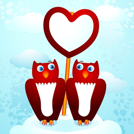 understood: Two cute owls with sign
