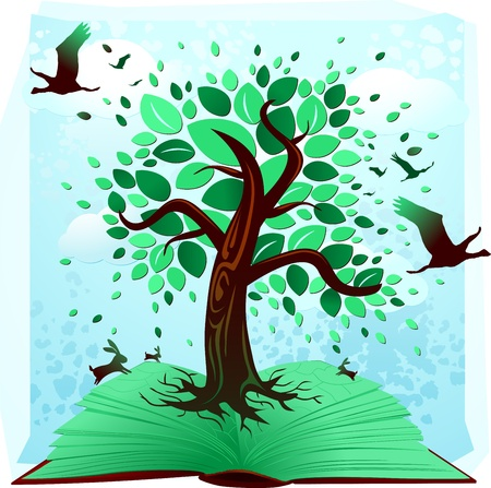 The book of environment Vector