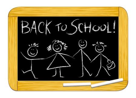 Back to school! Vector illustration