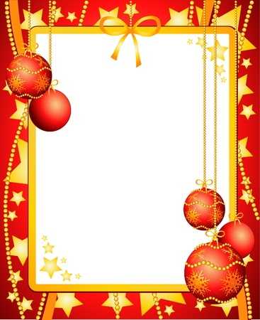 Christmas background with white paper customizable. Vector illustration Stock Vector - 10069937