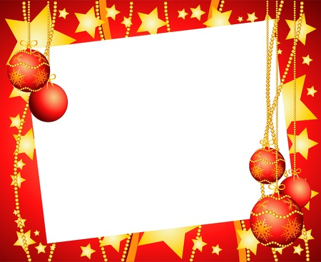 customizable: Christmas background with white paper customizable. Vector illustration Illustration