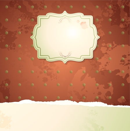 Vintage background with label Stock Vector - 10280740