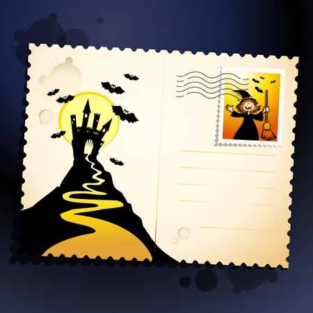 Halloween funny background, vector image Vector