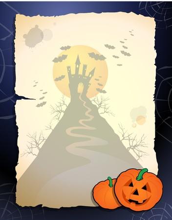 calabazas de halloween: Fondo de Halloween.