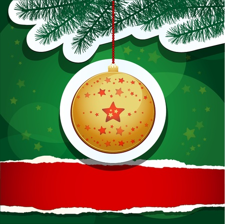 christmas background with copy space, vector Stock Vector - 10941420