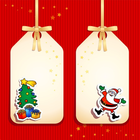 Set of funny labels, Christmas theme. Vector Vector