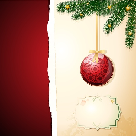 Christmas background customizable. Vector image Vector