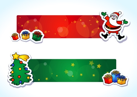 Funny Christmas banner, vector