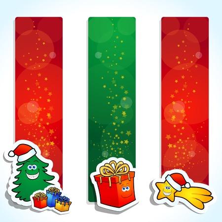 Christmas banners, vector Vettoriali