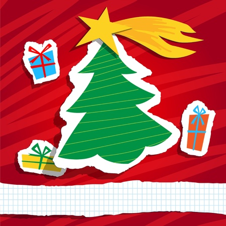 Christmas funny background, vector Vector