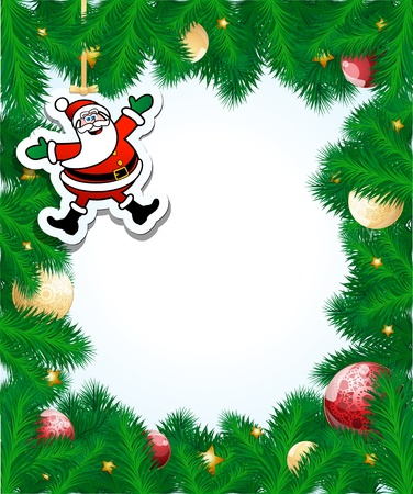 Christmas frame, vector Illustration