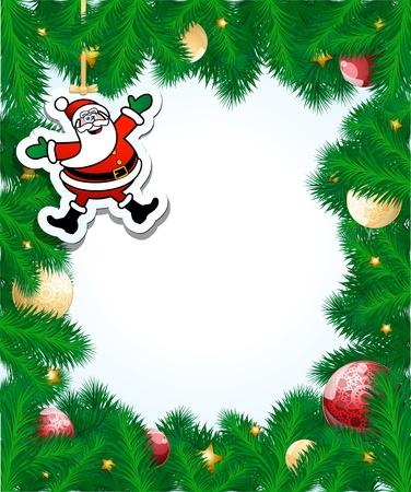 Christmas frame, vector Ilustrace