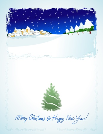 Christmas card, vector background Vector