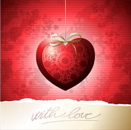 Valentine card, vector background Vector