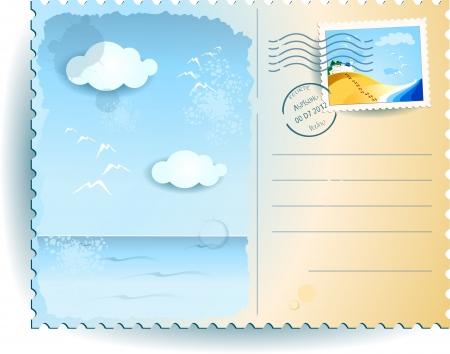 Sea postcard Illustration