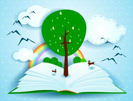 arbol de la sabiduria: Crecer, ilustraci�n del concepto