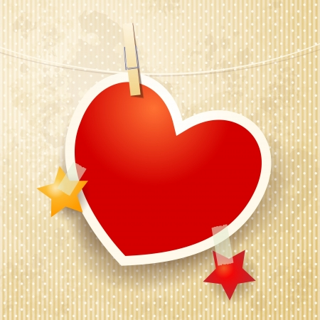 Decorative paper heart Stock Vector - 17751957