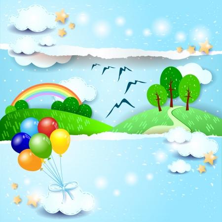 Spring background, vector illustration Vettoriali