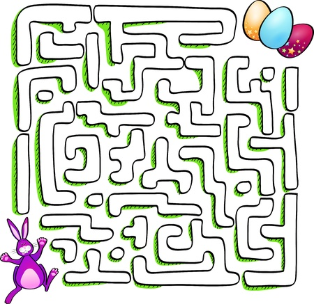 Easter labyrinth, vector illustration Stock Vector - 18156515