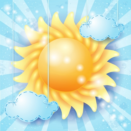 Summer background with sun Stock Vector - 20928503
