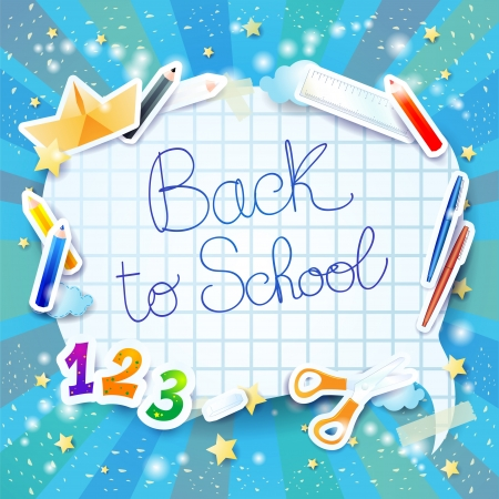 School background with bubble Vector