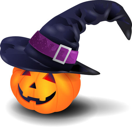brim: Pumpkin with hat Illustration