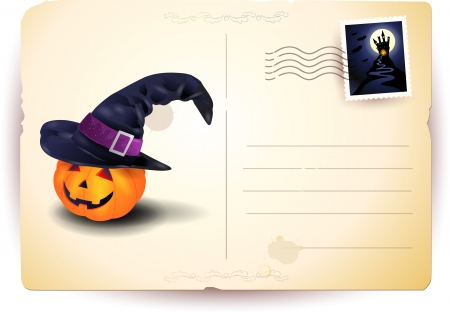 Halloween postcard with copy space Vector