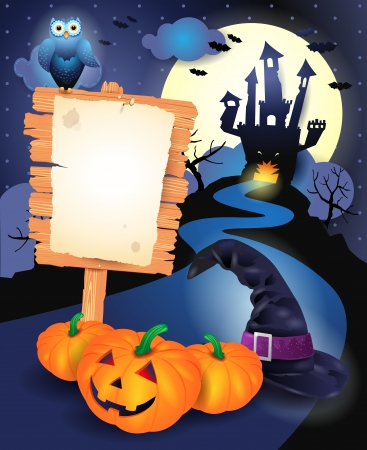 Halloween background with sign, vector eps10 Vector