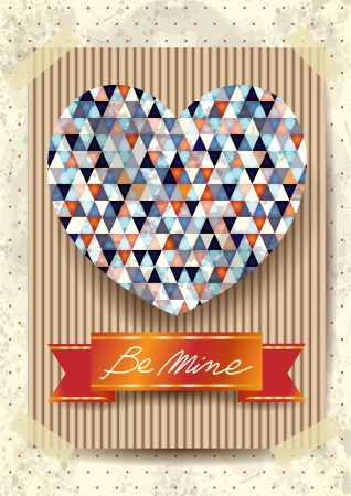 stunning: Valentine card with stunning heart, vector eps10