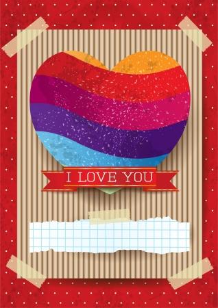 stunning: Valentine card with stunning heart Illustration