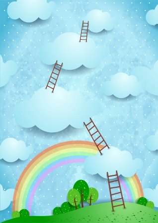 dream land: Climbing to the sky