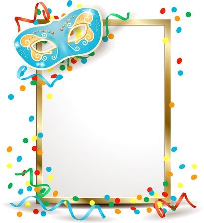 カーニバル マスクと看板