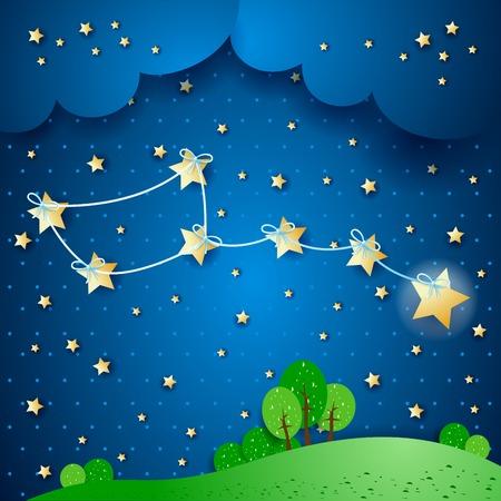 Polar stars illustration Vettoriali