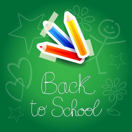 School background with paper elements   Vector