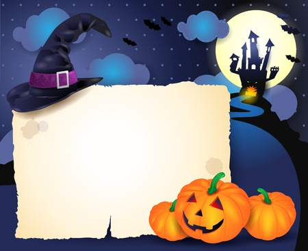 Halloween background with parchment Stock Vector - 31872708